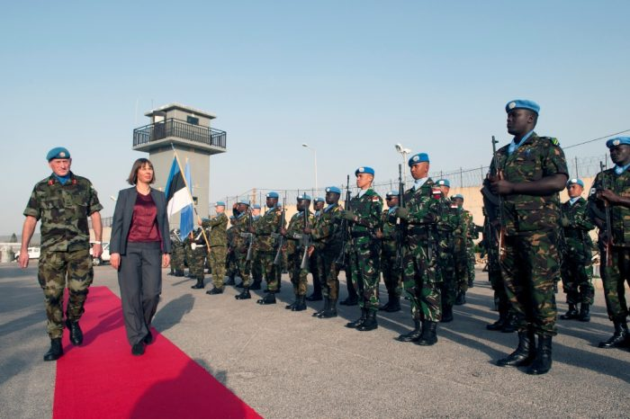 President of Estonia visits UNIFIL