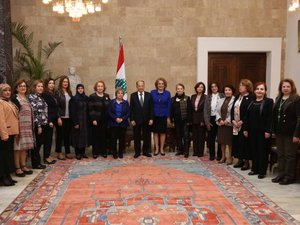 On Women's Day, Aoun Advocates Equal Legal Rights between Men and Women