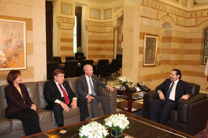 Hariri receives US Congress delegation and Qatari ambassador