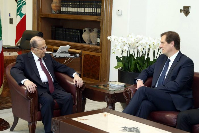 Aoun meets Fillon's advisor: Lebanon will respect will of French to choose their President