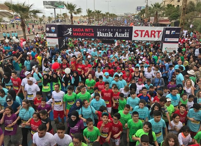 17,400 participants in Sidon Marathon: We run for development and peace