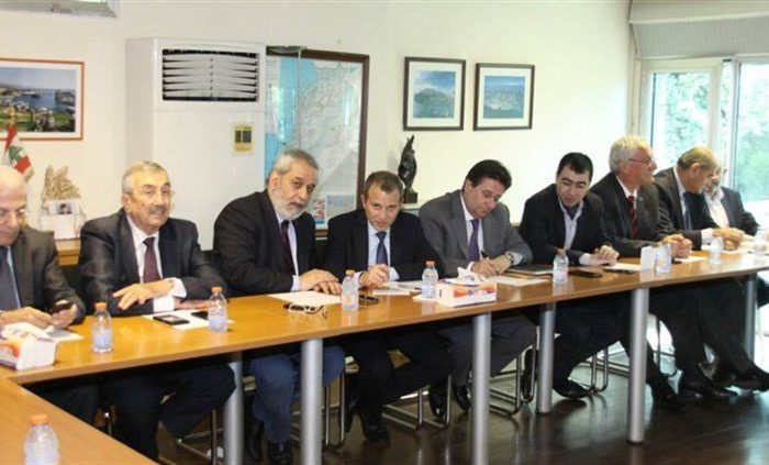 Ministes Gibran  Bassil after Change and Reform bloc meeting May 16, 2017